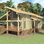 Проект дома 11 х 20 > 208 м² | DK-13-208