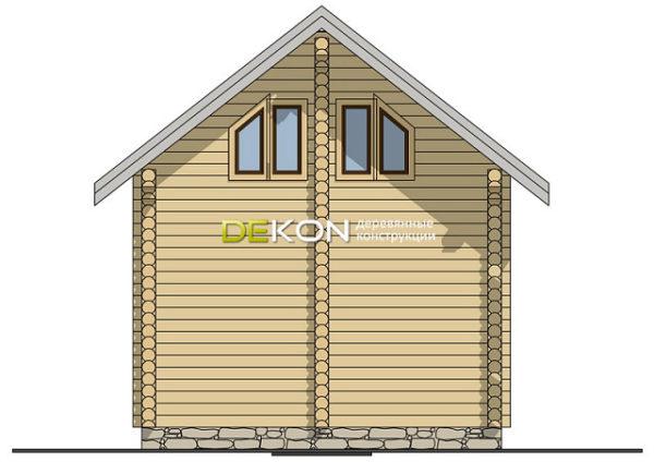 Сруб для бани 6 х 8 > 62 м² | DK-62