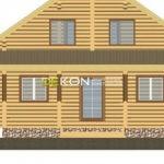 Сруб дома 8 х 8 > 121 м² | DK-13-117