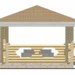 4 x 4 — Беседка 15 м² | DK-15-15