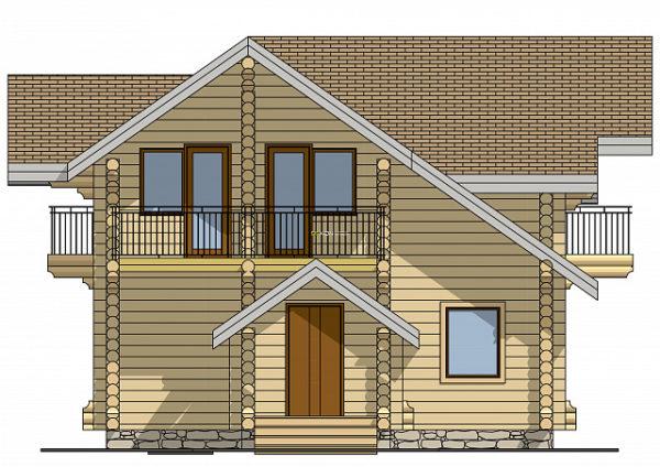 Сруб дома 8.5 х 8 > 104 м² | DK-13-103