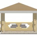 4 x 4 – Беседка 15 м² | DK-15-15