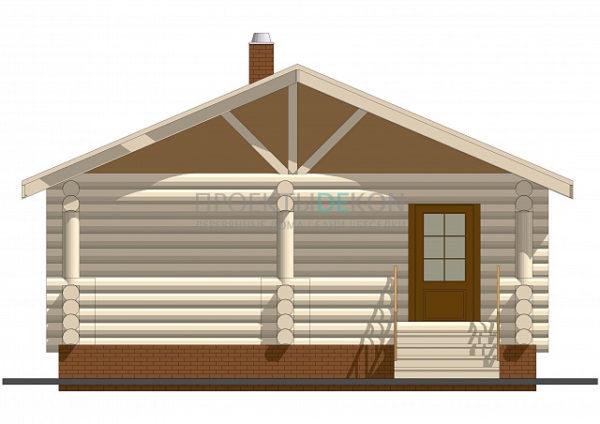 Сруб бани 7 х 7 > 36 м² | DK-17-36