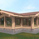 Проект бани 8 х 15 > 57 м² | VG2442