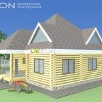 Проект дома 8 х 8 > 163 м² | DK-163