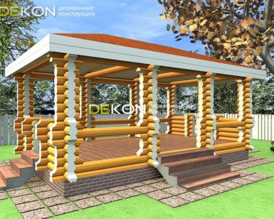 4 x 7 — Беседка 20 м² | DK-B20