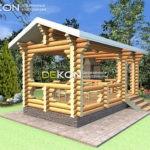 3 x 6 – Беседка 17 м² | DK-B17