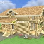 Сруб дома 8 х 11 > 142 м² | DK-13-142