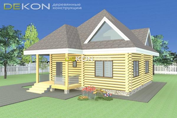 Проект дома 8 х 8 > 163 м²   DK-163