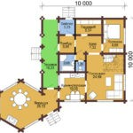 Сруб под дом 10 х 10 > 173 м² | DK-173
