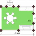 4 x 5.5 — Беседка 21 м² | DK-B21